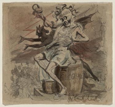 1830 - Alcohol, Death, and the Devil, George Cruikshank